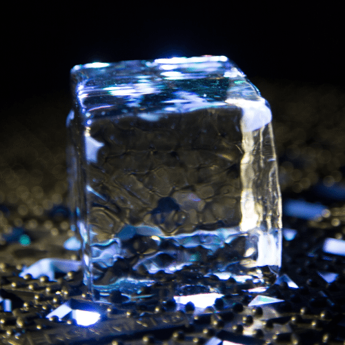 cube with blue hue